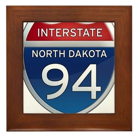 Interstate 94 - North Dakota Framed Tile