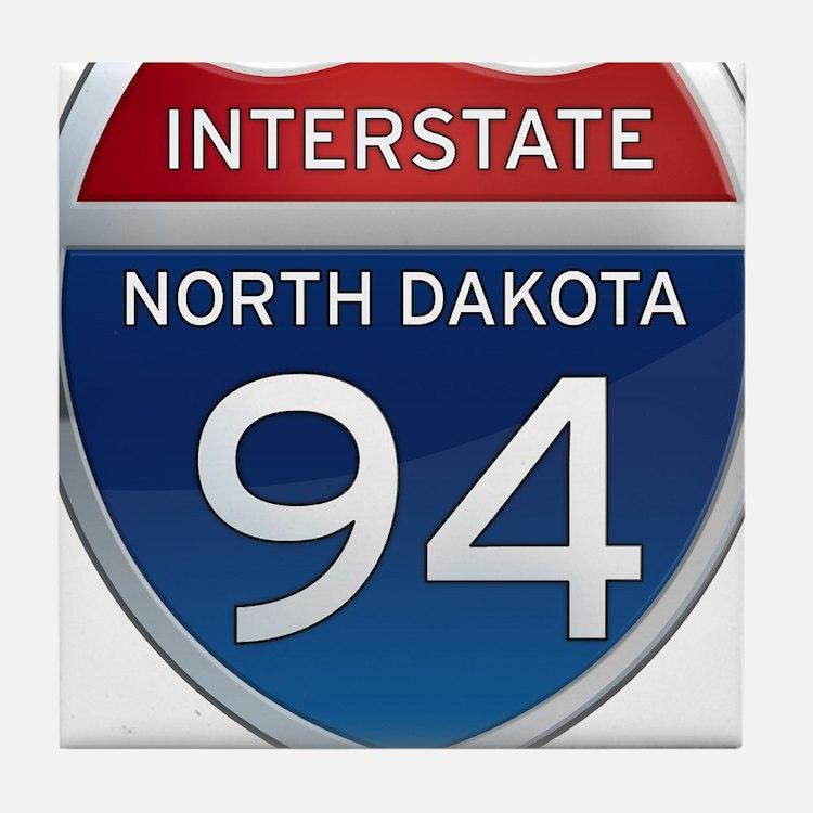 Interstate 94 - North Dakota Tile Coaster