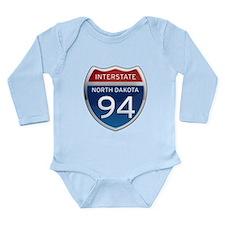 Interstate 94 - North Dakota Long Sleeve Infant Bo