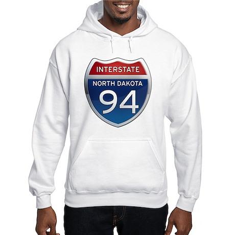Interstate 94 - North Dakota Hooded Sweatshirt
