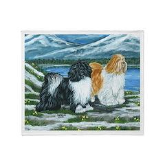 Tibetan Terrier Throw Blanket