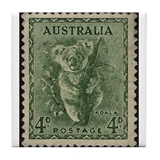 Australian Koala Bear Tile Coaster