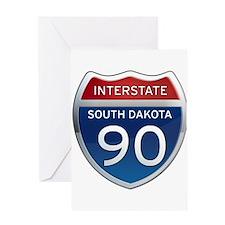 Interstate 90 - South Dakota Greeting Card