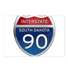 Interstate 90 - South Dakota Postcards (Package of
