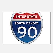 Interstate 90 - South Dakota Postcards (Package of
