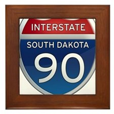 Interstate 90 - South Dakota Framed Tile