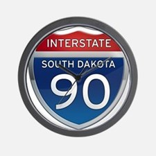 Interstate 90 - South Dakota Wall Clock