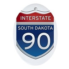 Interstate 90 - South Dakota Ornament (Oval)