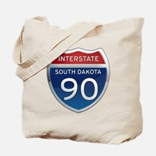 Interstate 90 - South Dakota Tote Bag