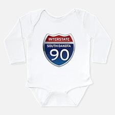 Interstate 90 - South Dakota Long Sleeve Infant Bo