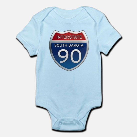 Interstate 90 - South Dakota Infant Bodysuit