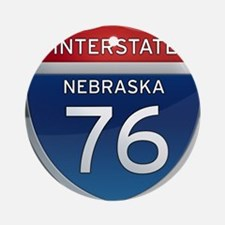 Interstate 76 - Nebraska Ornament (Round)
