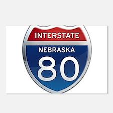 Interstate 80 - Nebraska Postcards (Package of 8)