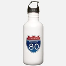 Interstate 80 - Nebraska Water Bottle