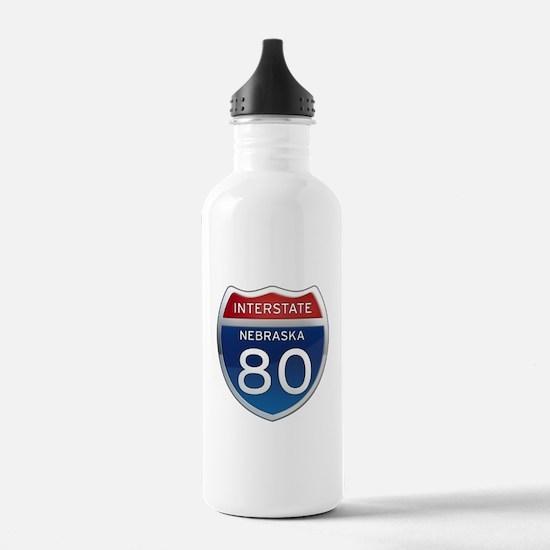 Interstate 80 - Nebraska Water Bottle