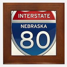 Interstate 80 - Nebraska Framed Tile