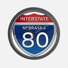 Interstate 80 - Nebraska Wall Clock