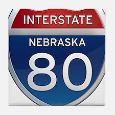 Interstate 80 - Nebraska Tile Coaster