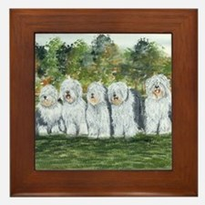 Old English Sheepdog Framed Tile