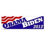 Obama-Biden 2012 flag bumper sticker
