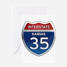 Interstate 35 - Kansas Greeting Card