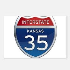Interstate 35 - Kansas Postcards (Package of 8)