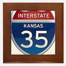 Interstate 35 - Kansas Framed Tile
