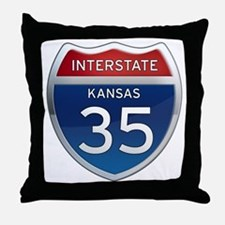 Interstate 35 - Kansas Throw Pillow