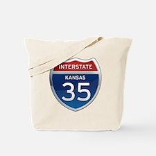 Interstate 35 - Kansas Tote Bag