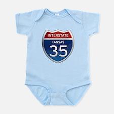 Interstate 35 - Kansas Infant Bodysuit