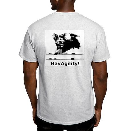 Havanese Agility Ash Grey T-Shirt