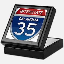 Interstate 35 - Oklahoma Keepsake Box