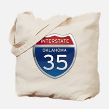 Interstate 35 - Oklahoma Tote Bag