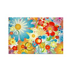 Floral Explosion summer colors Rectangle Magnet (1