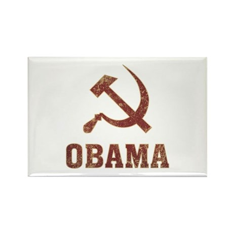 Socialist Obama Vintage Rectangle Magnet