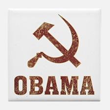 Socialist Obama Vintage Tile Coaster