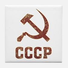 Soviet Union Vintage Tile Coaster