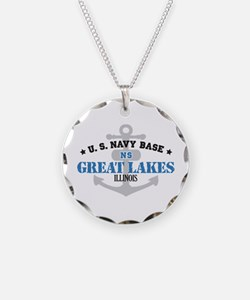 US Navy Great Lakes Base Necklace