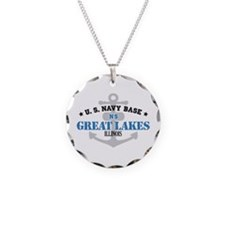 US Navy Great Lakes Base Necklace Circle Charm