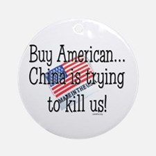 Buy American Ornament (Round)