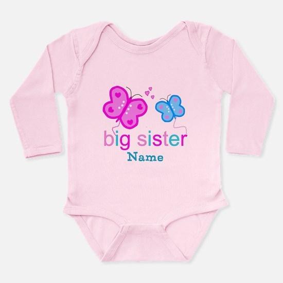 big sister butterfly custom Long Sleeve Infant Bod