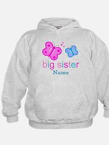 big sister butterfly custom Hoodie
