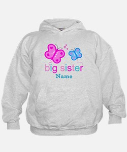 big sister butterfly custom Hoody