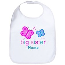 big sister butterfly custom Bib