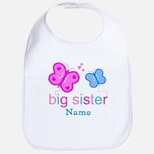 big sister butterfly custom Bib