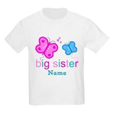 big sister butterfly custom T-Shirt