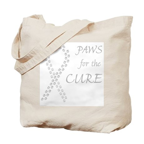 Gray Paws Cure Tote Bag