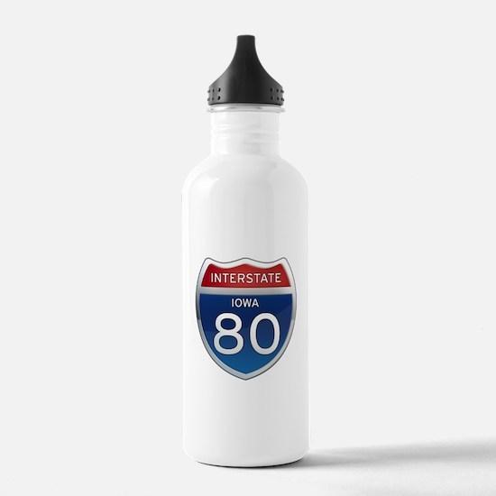 Interstate 80 - Iowa Water Bottle