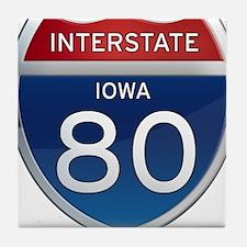 Interstate 80 - Iowa Tile Coaster