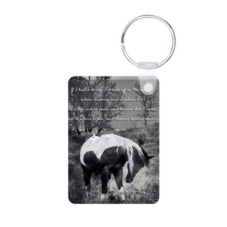 If I Had a Horse Aluminum Photo Keychain